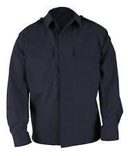 LAWPRO BY PROPPER BDU COAT 2 POCKET LONG SLEEVE BATTLE RIP SHIRT NAVY LARGE LONG