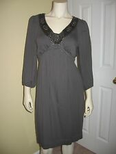 M.S.S.P. women's Gray squine, scoop neckline,3/4 sleeve dress Size M.