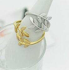 UK New Olive Branch Style Ladies Adjustable Ring Leaves Finger    (019)