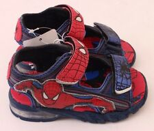 Original Marvel Spider-Man Kids Boys Light Up Sandals Shoes Slippers Size 7 NWT