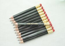 "48 ""Black"" Personalized Golf Pencils with Erasers"