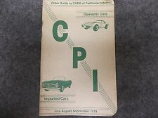 July August September 1979 Value Guide to CARS of Particular Interest 16816