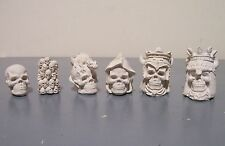 Gothic Skulls Fantasy chess set latex moulds