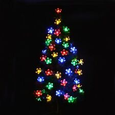 50-LED Solar Christmas String Light Fairy Flower Blossom Decoration Garden Light