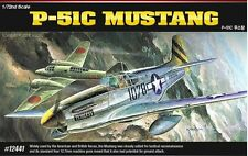 Academy 1/72 Plastic Model Kit P-51C MUSTANG The Fighter of World War II 12441