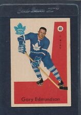 1959/60 Parkhurst #048 Gary Edmundson Maple Leafs EX 59PH48-122215-1