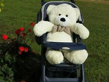 "HUGE LARGE GIANT TEDDY BEAR - 36"" WHITE SOFT CUDDLY NEW"
