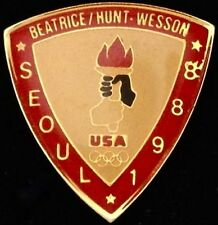 Torch Olympic Pin ~ Seoul~1988~ Sponsor: Beatrice Hunt Wesson