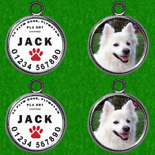2 X PERSONAL DOG NAME & PHOTO TAG ID IDENTITY TAG DISC