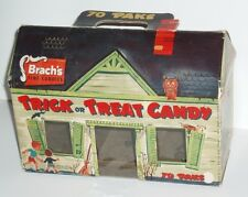 Vintage 1950's Brachs Trick or Treat Halloween Candy Box haunted house