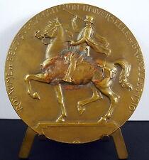 Médaille exposition universelle de Bruxelles 1910 Belgique Belgium 70 mm medal