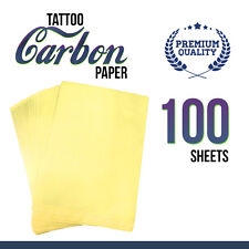 "Tattoo Paper 100 x Sheets Carbon Thermal Stencil Transfer 8.5"" x 11"" Supplies"