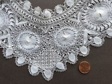 Vintage handmade Teneriffe lace collar  COLLECT  COSTUME