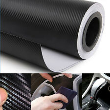 "20"" x 50"" 3D Black Carbon Fiber Vinyl Wrap Film Car Vehicle Sticker Sheet Roll"