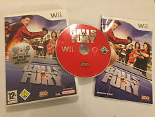 NINTENDO Wii GREAT VIDEO GAME BALLS OF FURY +BOX & INSTRUCTIONS COMPLETE PAL