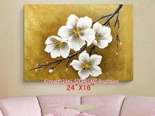 "YH683 24*16""Hand painted Oil Canvas Wall Art home Decor abstract flower NO Frame"