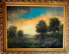 HUDSON RIVER SCHOOL LG. EXCELLENT OIL LANDSCAPE PAINTING SUNSET , NEW YEAR SALE!