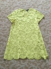 BCBG Diane Yellow Lace Shift Dress (Nwot)(Size M)