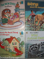Lot of 11 Picture Story Books-Golden Look-Look Books-Cartoons & animal