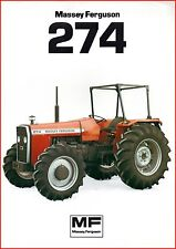 French Original  Prospect  Tracteur Tractor Massey Ferguson MF 274_ 2 pages