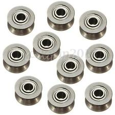 10Pcs 624V Miniature Model Rubber Sealed Metal Shielded Metric Ball Bearings