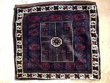Antique Tribal Baluch Bag Face Rug Cushion Cover