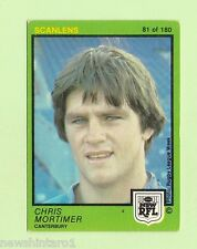 1982  CANTERBURY BULLDOGS  SCANLENS RUGBY LEAGUE CARD  #81  CHRIS MORTIMER