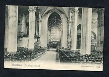 View of the Interior of St. Mary's Church, Warwick. Postmark/Stamp - C1907.