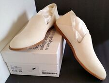 New PEDRO GARCIA Yoshi Ivory Chalk Suede Leather Shoes Flats Size 10