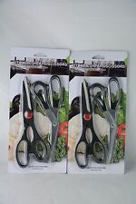 Black scissors Kitchen 4 PCS, cuchillos cocina, Steel Fish Chicken Bone Serrate