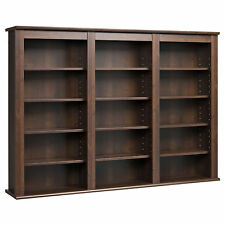 Everett Espresso Wall -hanging Media Storage Cabinet Furniture Organizer Home