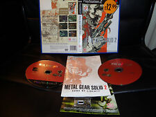 Metal gear solid 2 sons of liberty ++ -  playstation 2 ps2 game - free postage