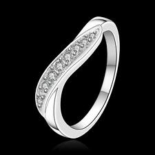 China Wholesale 925 Silver Filled Crystal Ring Charm Women Fashion Jewelry Gifts