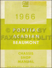 1966 Pontiac Canadian Shop Manual Parisienne Laurentian Strato Acadian Beaumont