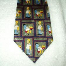 Tie Novelty Cartoon The Simpsons Homer Man At Work