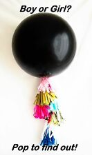 Reveal Balloon 90cm - Boy Baby Shower Blue Surprise Gender Reveal Party Balloon!