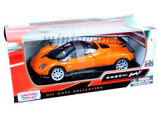 MOTORMAX 73369 PAGANI ZONDA F 1/24 DIECAST ORANGE WITH SILVER WHEELS