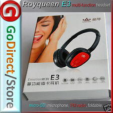 Royqueen E3 Headset, Multi-functioned, Cordless & Wired Combined headphones