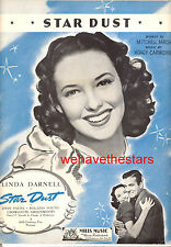"STAR DUST Sheet Music ""Star Dust"" Linda Darnell John Payne"