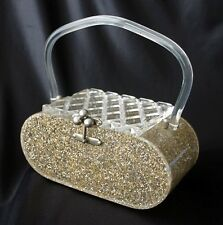 FLORIDA HANDBAGS Glitter & Confetti Lucite Bag Clear Lid