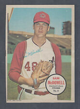 1967 Topps Pin Ups Poster Insert #8 Sam McDowell Cleveland Indians