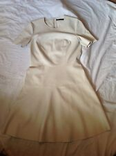 ZARA womens cream faux leather dress - size M