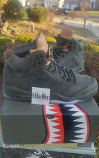 NEW DS Nike Air Jordan Retro 5 V TAKE FLIGHT Premium Sequoia 881432-305 Dust Bag