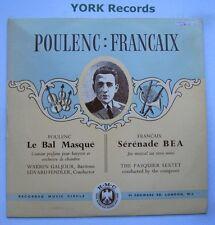 CM 10 - POULENC - La Bal Masque GALJOUR / FENDLER - Excellent Con LP Record