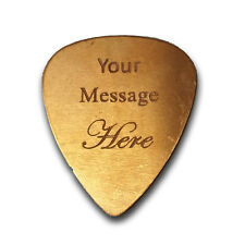 Personalized Add Own Text Guitar and Bass Pick Custom Customizable Gift COPPER