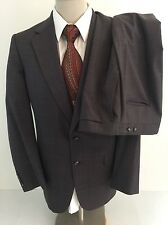 Burberry Brown Windowpane Stripe Suit 40L