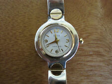 #500   ladys sterling silver  and gold plate ecclissi watch bracelet