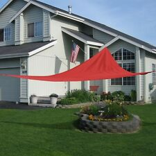 18' x18'x18'  Triangle Sun Shade Sail UV Top Outdoor Canopy Patio Lawn Red