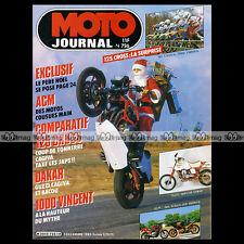 MOTO JOURNAL N°726 HONDA CR 125 RC, KAWASAKI KX 125 E, KTM 125 MX, MOINEAU 1985