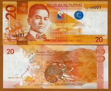 Philippines, 20 Piso, 2014, Pick 206-New, UNC
